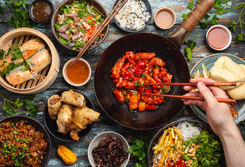 Fototapeta Assorted Chinese dishes obraz