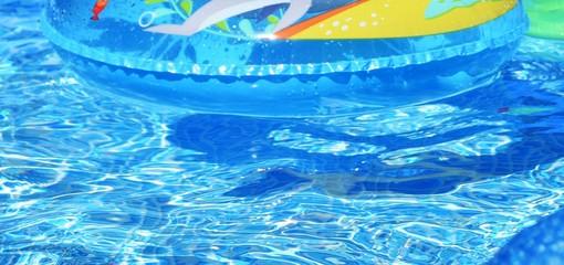 Kiddie Tube in Pool