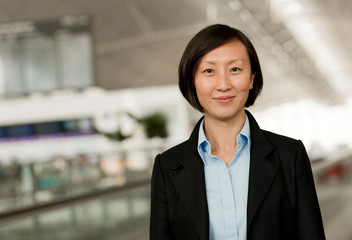 Portrait of young Chinese businesswoman.