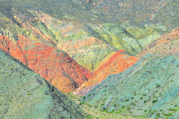 Colorful mountains. Fantastic landscape of Andes. Nothern Argentina.