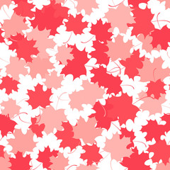 Seamless background with red maple leaves.