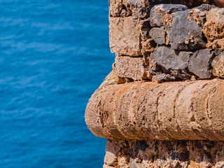 Detail from the ancient Greek fort in Crete, Greece