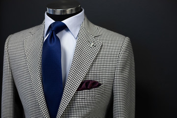 Custom expensive tailored suit on mannequin