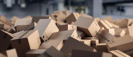 3D Illustration Verpackung Kartone