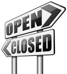open or closed opening hours start of new season no access