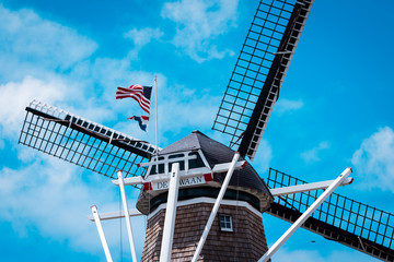 Canvas Prints Swan The back of De Zwaan windmill in Holland michigan