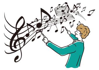 指揮をする音楽家