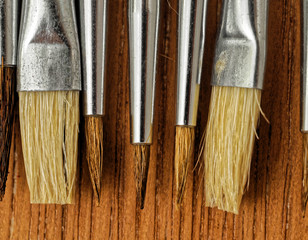 New Wooden Different Paintbrush Texture