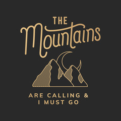 The mountains are calling illustration