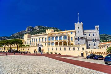 Prince's Palace in Fontvielle, Monte-Carlo, Monaco, Cote d'Azur,