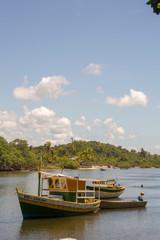 boats on beach in Caraíva - Bahia - Brazil - beach