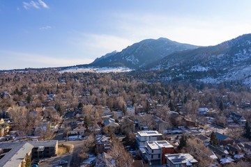 Boulder Colorado Cityscape Flatirons Background