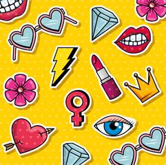 fashion graphic pop art background