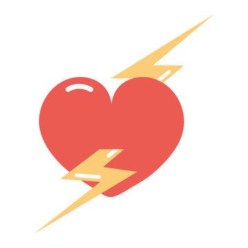 heart lightning girl power