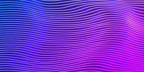 Neon lines background with glowing 80s new retro vaporwave or synthwave style