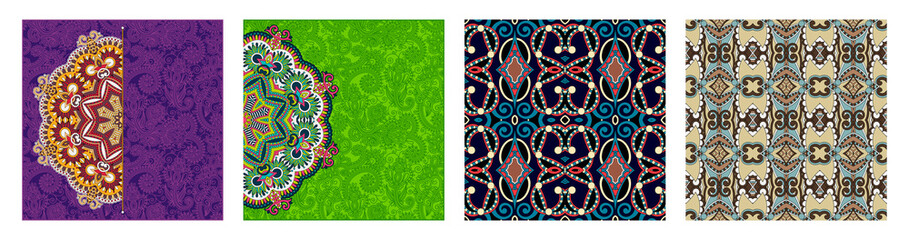 seamless geometry vintage pattern, ethnic style ornamental background