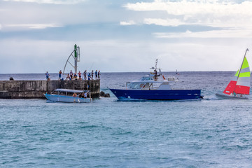 Entrée port de Saint-Gilles, île de La Réunion