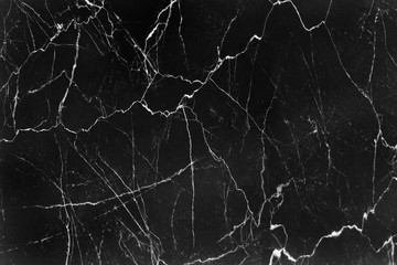 Delicate black marble texture with white veins and curly seamless patterns nature for background , abstract monochrome