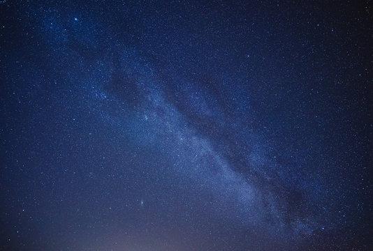 Beautiful night starry sky with Milky way galaxy.