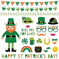 Saint Patricks Day decoration and party props set