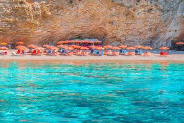 Wall Mural - Wid beach Paradise on Corfu island, Ionian sea coast, Greece