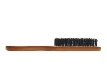 Natural bristles hair brush isolated