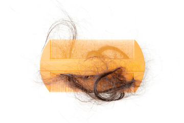 Hair fall and comb