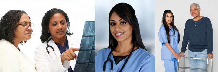 Group Of Indian Nurses And Doctors