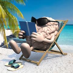 human brain on the beach