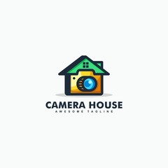 Abstract Camera House illustration vector Design template