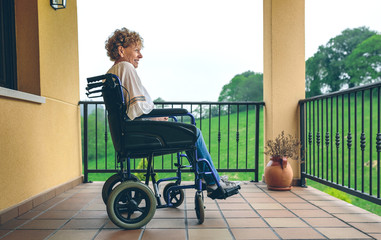 Older woman in a wheelchair