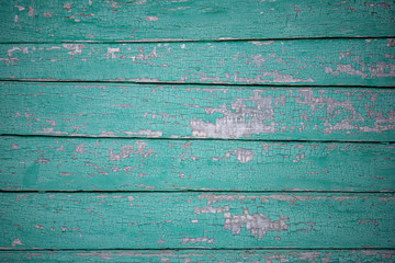Wooden wall of blue rough shabby boards