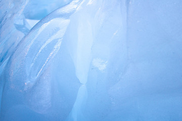 Ice block blue background