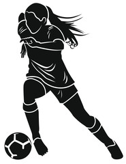 Fototapeta Footballeuse obraz