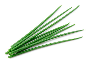Fototapeta Chives isolated. Green chives. Onion. obraz