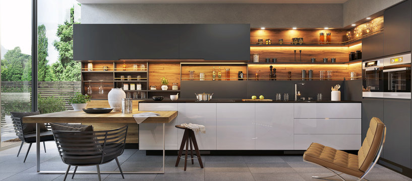 Modern luxury kitchen interior design