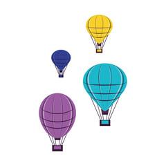 set of balloons air hot flying