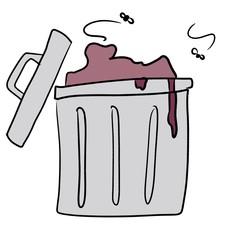 ゴミ箱の絵