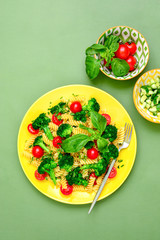 Pasta salad with broccoli