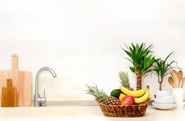 Summer culinary kitchen background