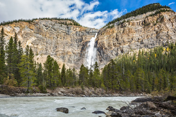 Colossal Takakkaw waterfall