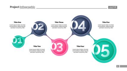 Five Steps Strategy Slide Template 2