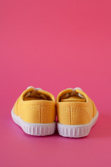 Yellow child shoes