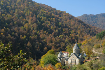 view of the monastery Dilijan, Armenia on a warm Sunny day, the Christian Apostolic Church and the Caucasus.