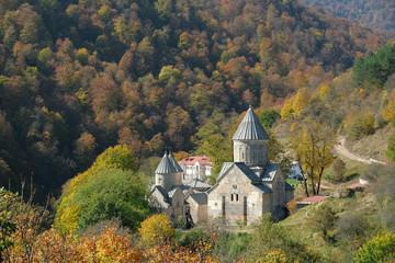 the monastery, Dilijan, Armenia in autumn, Caucasus mountains, Christian Apostolic Church.