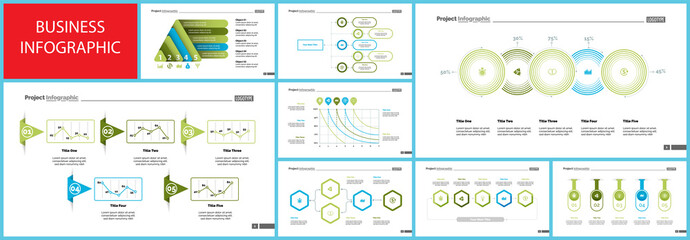Inforgraphic diagram design set for business project