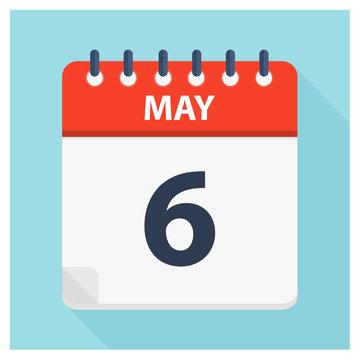 May 6 - Calendar Icon - Calendar design template