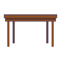 Office desk furniture isolated
