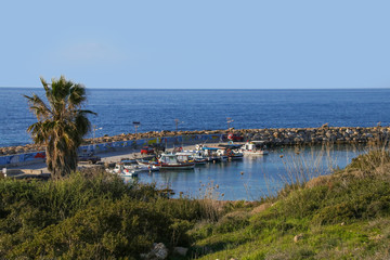 Port and beach of Agios Georgios, Akamas - Cyprus