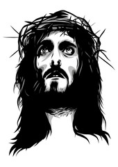 face of jesus with crown of thorns